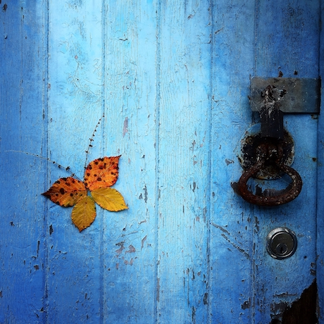 The Journey - Blue door with butterfly (c)Suzie Killick